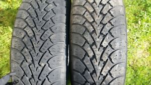 "Pair of 185/60/15"" Winter tires"
