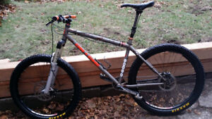 On-One 456 steel mountain bike, fork and dropper post