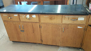 Work Bench Counter with Cabinets