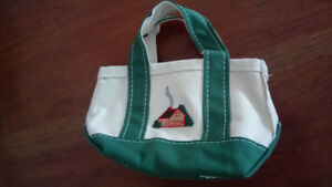 LL Bean vintage boat and tote canvas bag.