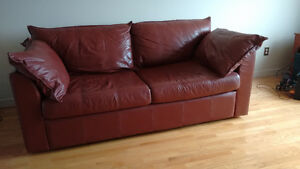 Ikea leather sofabed **offer pending**