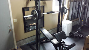 Smith weight machine and bench