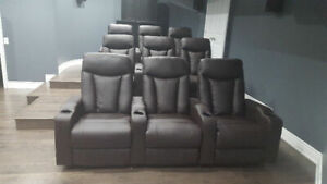 Recliners, theater chairs, manual, recliners for 3 ON SALE