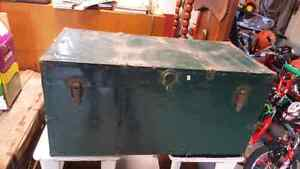 Green Antique Trunk