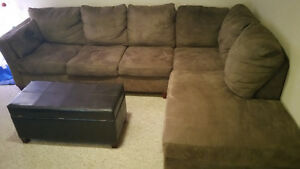 Brown sectional mint condition only 3 months old  brand new obo