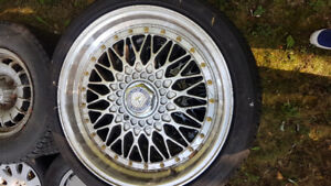 4 BBS 18 inch rims with Continental 225/40/R18 tires