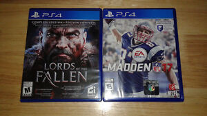 MADDEN 17 AND LORDS OF THE FALLEN NEW