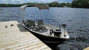 Power boat and trailer