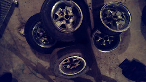"""Set of 5 olds rally wheels 14"""""""