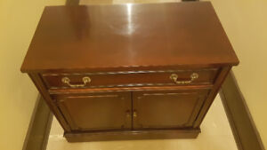 Rolling Antique Credenza, Finished on 4 sides, Beautiful Conditi