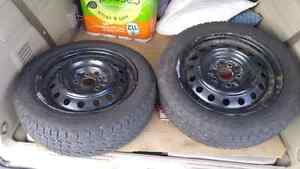 Set of 205/55/R16 Goodyear snow tires on rims Cambridge Kitchener Area image 7
