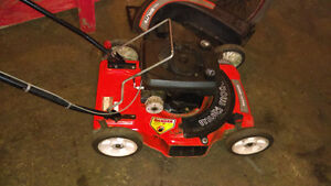 3 in 1 , 4.5 hp Brute Lawnmower -with attachments - $60