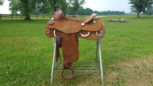 "Billy Cook roughout trainer 16"" seat- western saddle"