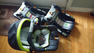 Chicco Keyfit 22 Infant Car Seat + 2 Bases