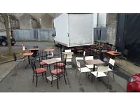 Cafe tables and chairs £55 each-excellent condition!