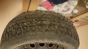14 inch winter tire and rim