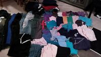 very large lot of women's plus size clothing