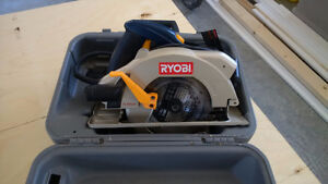 Like new RYOBI 14 AMP SKILL SAW WITH TWIN LAZERS