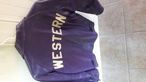 Vintage purple leather UWO jacket