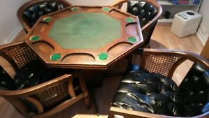 table de poker 4 chaises