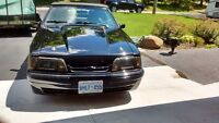 1989 convertible Ford Mustang 5.0 liter 5 speed