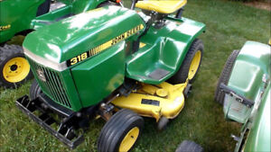 Looking for john deere garden tractors not working condition