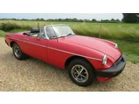 1979 MG B ROADSTER WITH OVERDRIVE Convertible Petrol Manual