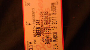 Green day. Hard copy ticket London Ontario image 1