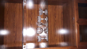 China Cabinet and glasses some crystal glasses