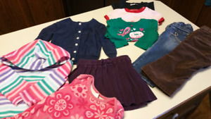 12 to 18 Months.  Baby girl clothes...EXCELLENT CONDITION