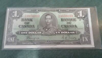 CANADA ONE DOLLAR BANK NOTE 1937