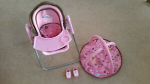 Graco Doll Playset - high chair, swing, car seat