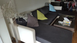 Dark Grey 2 lounge + 2 chaise Sofa Excellent Condition!