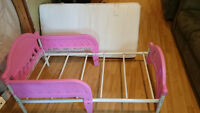 Free mattress with Pink Toddler bed