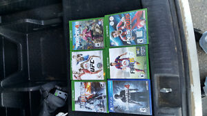 Xbox 1 games and a controller