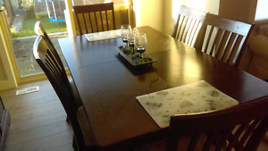 Solid dinning table and China cabinet