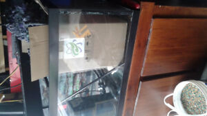 60 gallon aquarium with stand and accesories