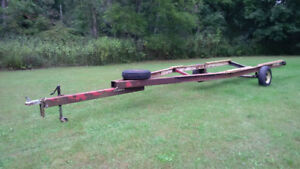 Single Axle Bunk Trailer - For Storage of 20 to 28 ft Boat