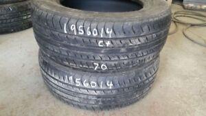 Pair of 2 Nexen CP661 195/60R14 tires (65% tread life)