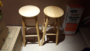 Two wooden stools - excellent condition