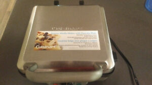 Used Cuisinart Belgian Waffle Maker with Pancake Plate