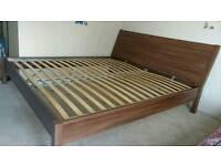 Kingsize Ikea Nyvoll bed with mattress
