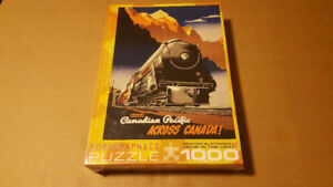 Travel Canadian Pacific Across Canada 1000 Piece Puzzle-New