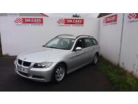 2008 08 BMW 320i SE TOURING ESTATE IN SILVER,VERY NICE EXAMPLE WITH F/S/H.2 KEYS