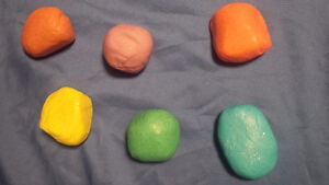 Home Made Therapeutic Sparkly Playdoh