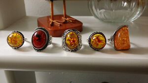 sterling silver rings with amber stones Gatineau Ottawa / Gatineau Area image 4