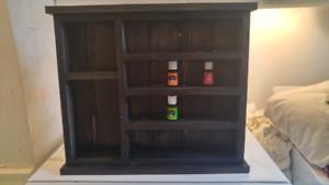 New custom made Essential oil shelf
