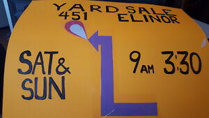 YARD SALE! 451 ELINOR St.