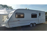 2005 Ace Jubilee Equerry 6 Berth-Side Fixed Bunk Dinette Caravan