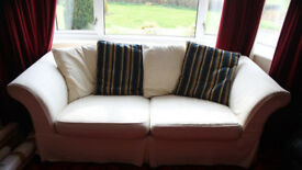 Sturdy Simple Three Person/Seater Sofa Armchair Couch Chair With Cushions